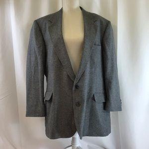 Haggar Gray Herringbone Sports Coat Blazer